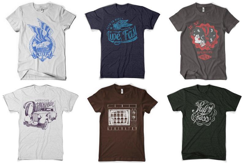 100 T-shirt Designs Vol 10 Bundle Preview 10