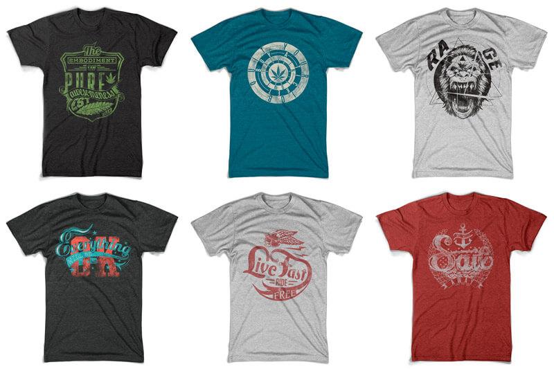 100 T-shirt Designs Vol 10 Bundle Preview 11