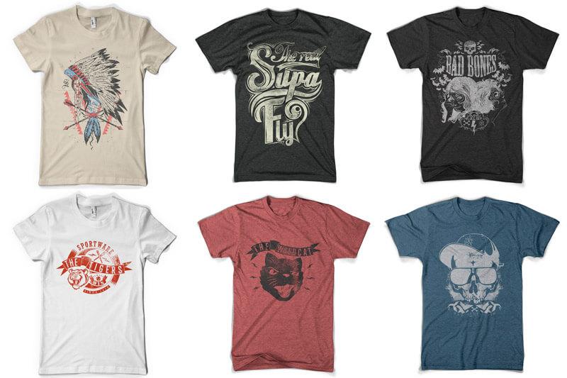 100 T-shirt Designs Vol 10 Bundle Preview 15