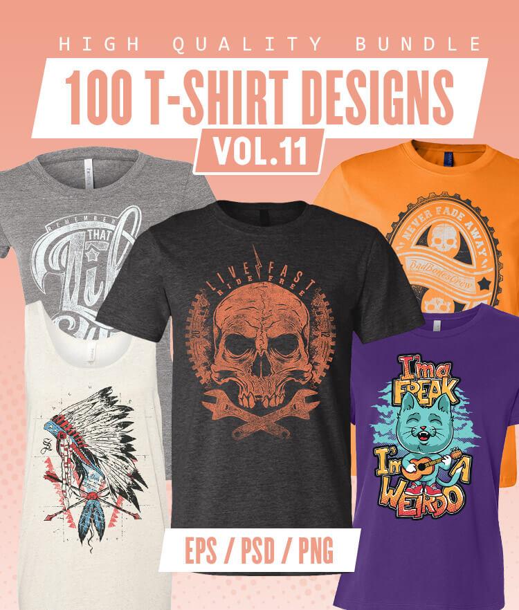 100-T-shirt-Designs-Vol-11-Cover-750x882px