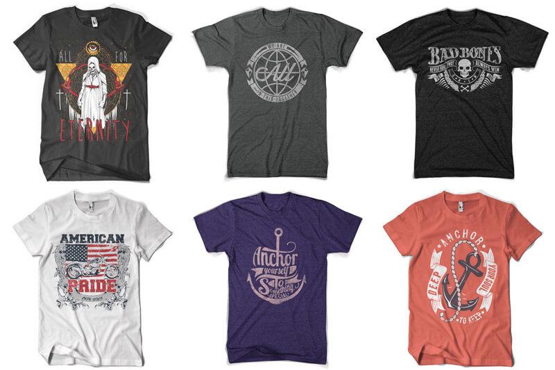 100 T-shirt Designs Vol 12 Bundle Preview 01