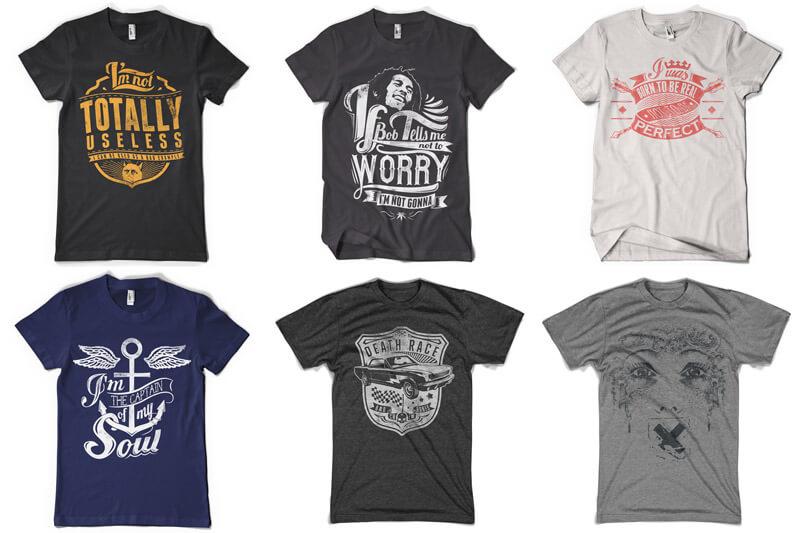 100 T-shirt Designs Vol 12 Bundle Preview 02