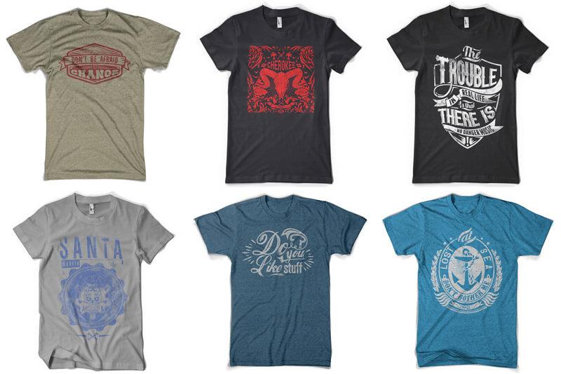 100 T-shirt Designs Vol 12 Bundle Preview 03