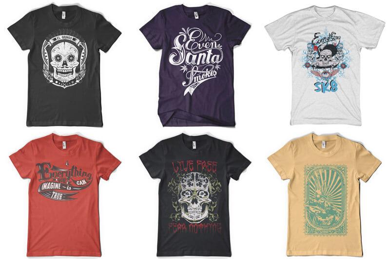100 T-shirt Designs Vol 12 Bundle Preview 04