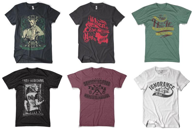 100 T-shirt Designs Vol 12 Bundle Preview 06