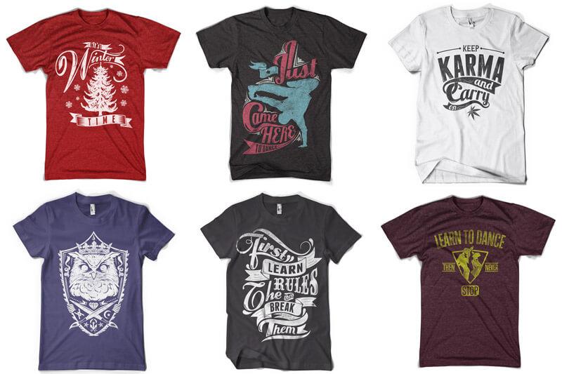 100 T-shirt Designs Vol 12 Bundle Preview 07