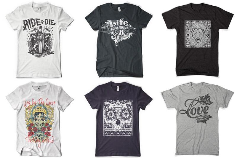 100 T-shirt Designs Vol 12 Bundle Preview 08