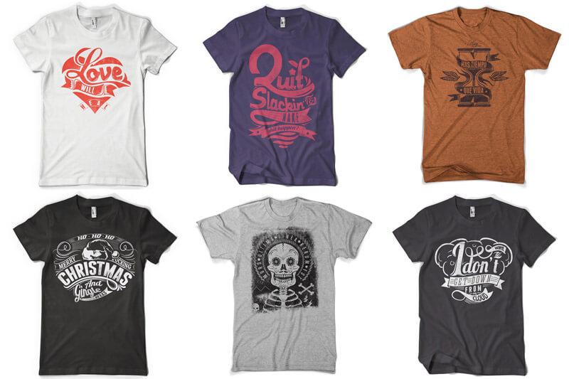 100 T-shirt Designs Vol 12 Bundle Preview 09