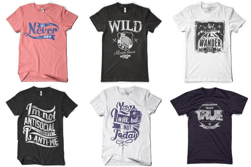 100 T-shirt Designs Vol 12 Bundle Preview 10