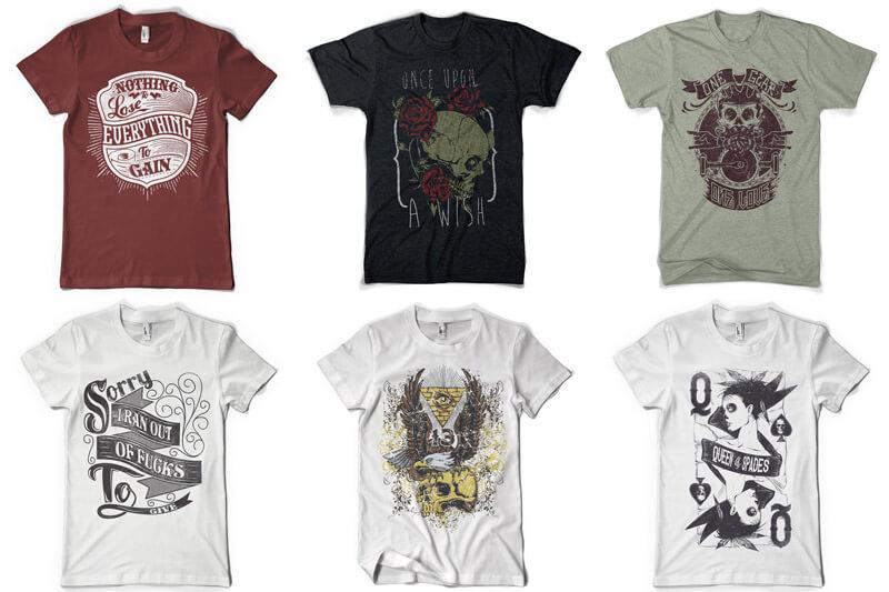 100 T-shirt Designs Vol 12 Bundle Preview 11