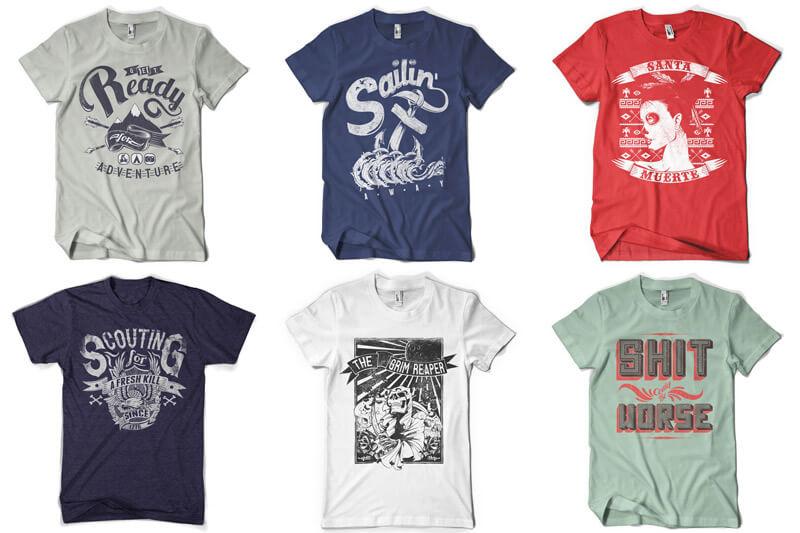 100 T-shirt Designs Vol 12 Bundle Preview 12