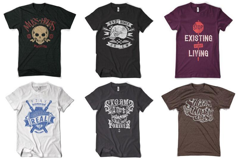 100 T-shirt Designs Vol 12 Bundle Preview 13