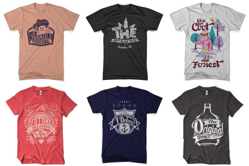 100 T-shirt Designs Vol 12 Bundle Preview 14