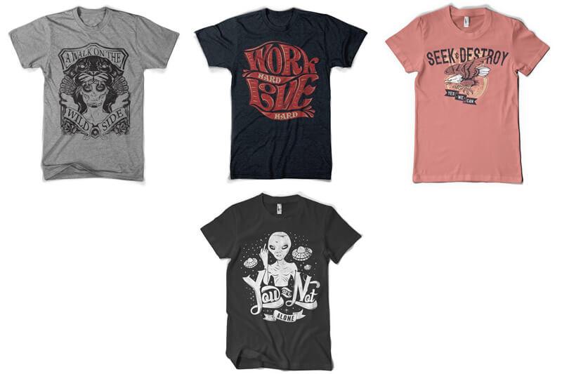 100 T-shirt Designs Vol 12 Bundle Preview 17