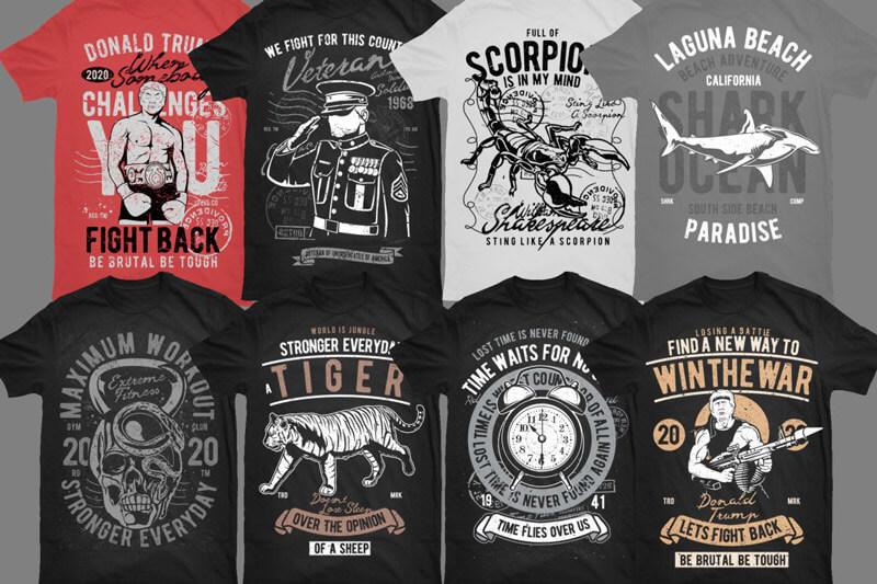 Vintade T-shirt Designs Bundle